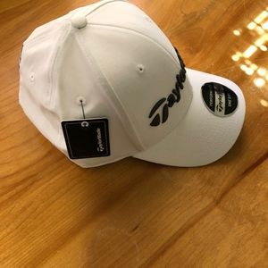 06b3fd2f TaylorMade TM18 Performance Seeker Hat White NEW! NWT